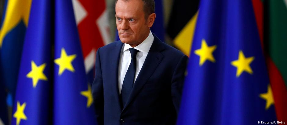 Donald Tusk arrives at the summit
