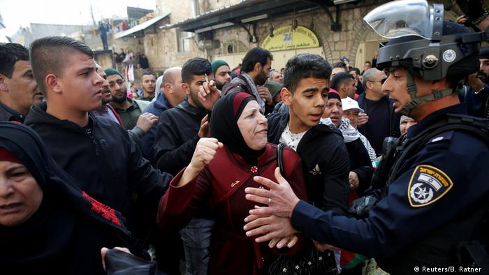 Jerusalem Proteste nach Freitagsgebet