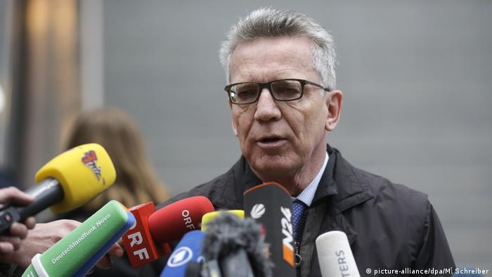 Former German Interior Minister Thomas de Maiziere (picture-alliance/dpa/M. Schreiber)