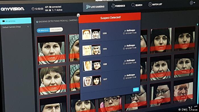Facial recognition software Berlin Südkreuz