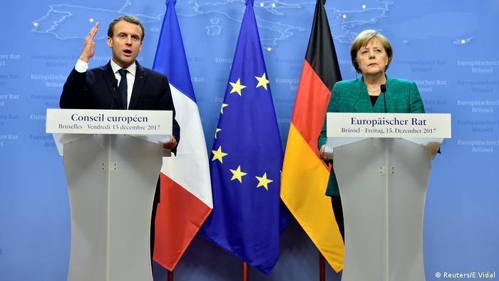 Angela Merkel at Emmanuel Macron EU summit