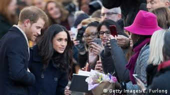 Prince Harry and Meghan Markle meet the crowds in Nottingham, England