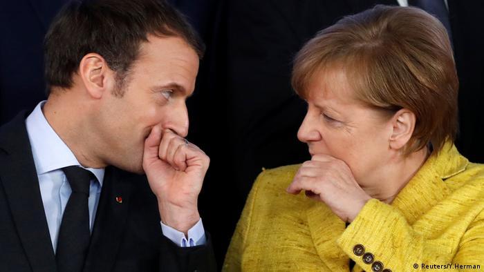 Angela Merkel und Emmanuel Macron EU Gipfel