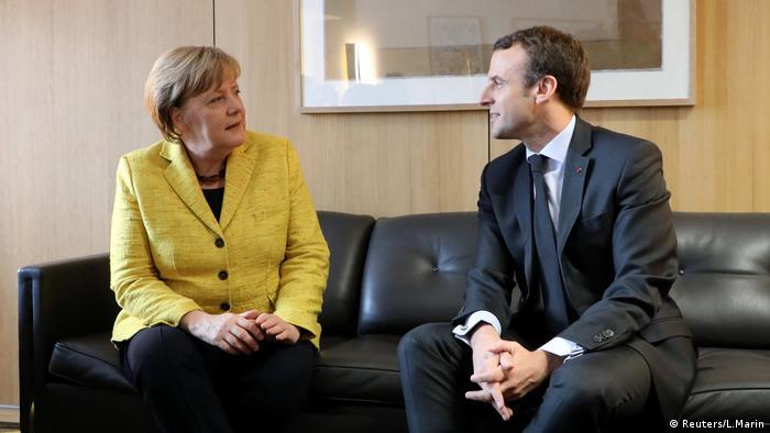 Emmanuel Macron und Angela Merkel in Brüssel