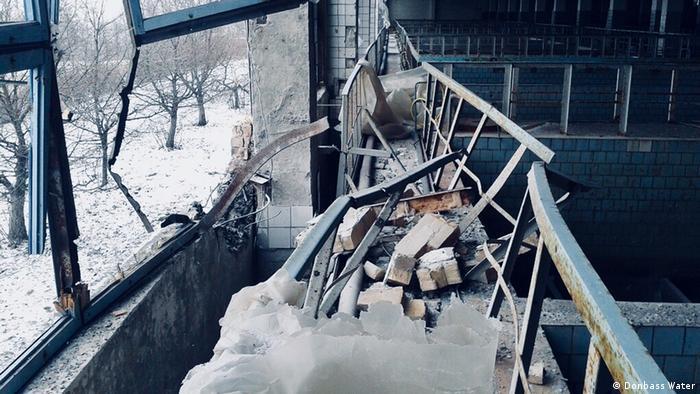 Разрушенная станция по очистке питьевой воды