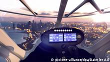 The cockpit of the Volocopter