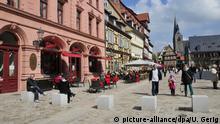 Deutschland Marktplatz in Quedlinburg