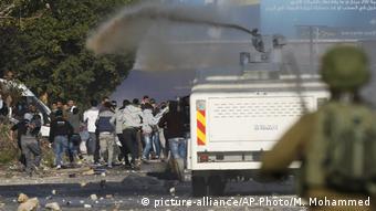 Столкновения палестинцев с израильской армией на Западном берегу реки Иордан