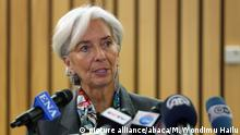 Christine Lagarde, Präsidentin des Internationalen Währungsfonds, in Äthiopien