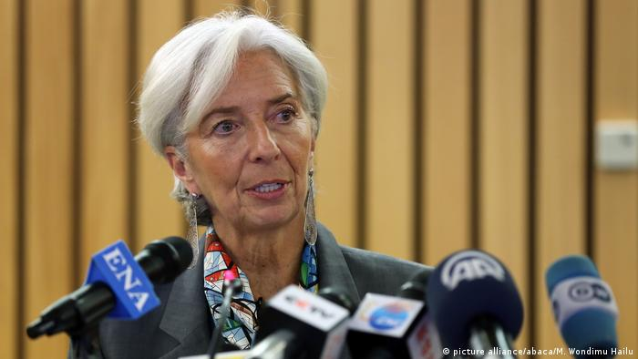 Christine Lagarde, Präsidentin des Internationalen Währungsfonds, in Äthiopien (picture alliance/abaca/M. Wondimu Hailu)