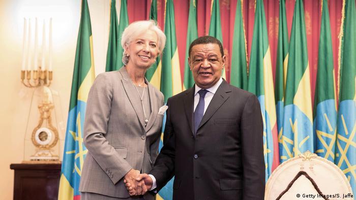 Christine Lagarde, Präsidentin des Internationalen Währungsfonds, mit äthiopischem Präsident Mulatu Teshome