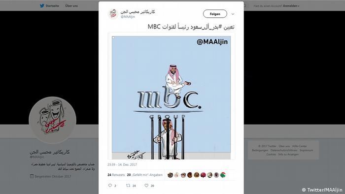 Screenshot der Twitter Account MAAljin