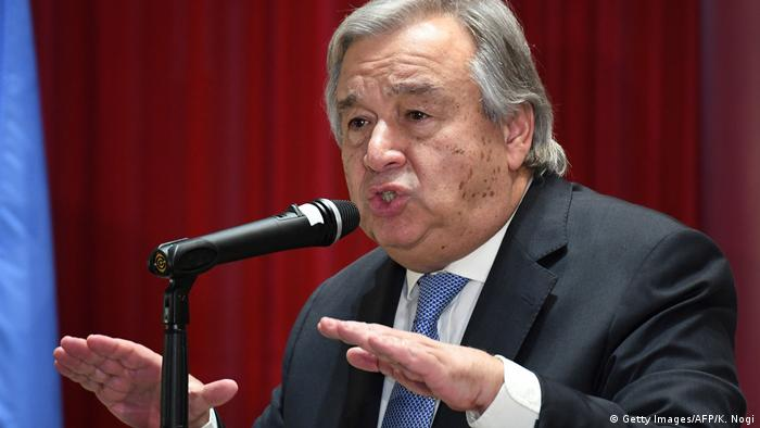 Antonio Guterres UN Generalsekretär in Tokio
