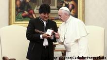 Vatikan Besuch Evo Morales bei Papst Franziskus