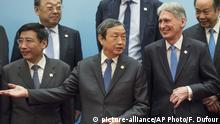 China Peking Ma Kai und Philip Hammond