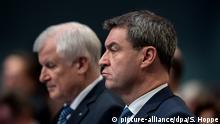 Nebeneinander sitzen, aber auch vereint? Horst Seehofer und Markus Söder (vorne)