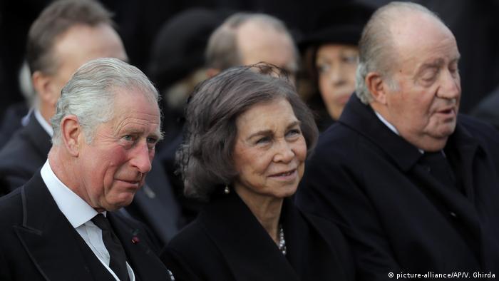 Rumänien Beerdigung von König Michael I. in Bukarest (picture-alliance/AP/V. Ghirda)