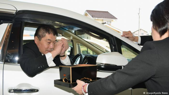 Japan opens first drive-through funeral service