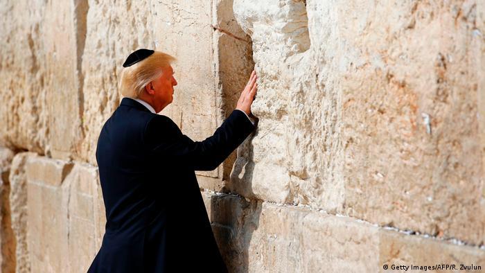 Jerusalem Besuch US Präsident Trump Klagemauer (Getty Images/AFP/R. Zvulun)
