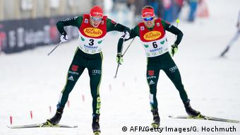 FIS Nordic Combined Ski Eric Frenzel Fabian Riessle (AFP/Getty Images/G. Hochmuth)