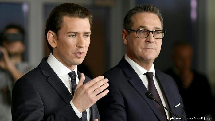 ÖVP FPÖ Christian Strache Sebastian Kurz (picture-alliance/dpa/R.Jaeger)