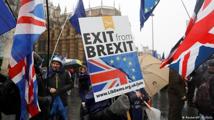 Anti Brexit London Houses of Parliament Anti Brexit Protest (Reuters/P. Nichols)
