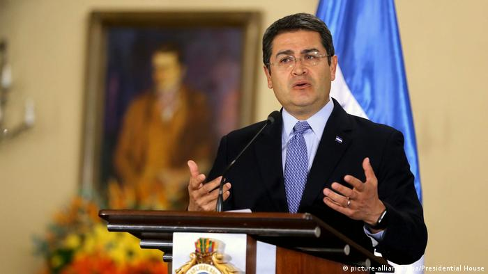 Honduras Präsident Juan Orlando Hernandez Rede Moody's Rating (picture-alliance/dpa/Presidential House)