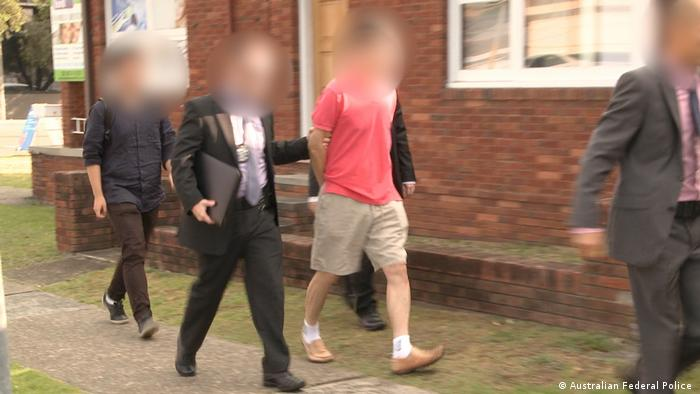 The Australian Federal Police arrest a 59-year-old Sydney man for allegedly acting as an economic agent for North Korea. (Australian Federal Police )