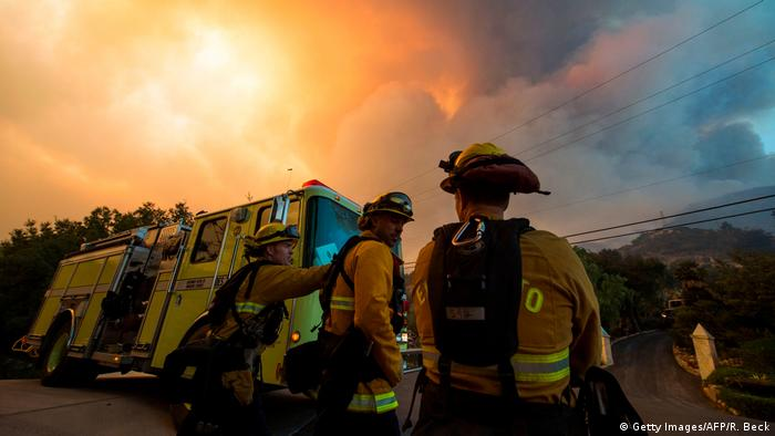 Fire fighters are monitoring fires in California