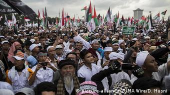 Indonesien Pro Palästina Demonstration in Jakarta (picture-alliance/ZUMA Wire/D. Husni)