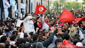 Μαζικές αντικυβερνητικές διαδηλώσεις τον Ιανουάριο του 2011 στην Τύνιδα