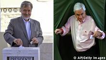 Bildkombo Chile Präsidentschaftswahlen Pinera Guillier Stimmabgabe