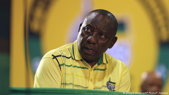 Südafrika ANC Parteitag Ramaphosa (picture-alliance/AP Photo/T. Hadebe)