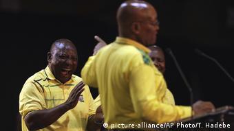 Südafrika ANC Parteitag Zuma und Ramaphosa