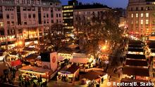A general view shows the Budapest Christmas Fair at Vorosmarty Square in downtown Budapest, Hungary, November 27, 2017. REUTERS/Bernadett Szabo