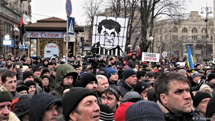 Під час акції на чолі з Саакашвілі 17 грудня сталися найбільші досі сутички між протестувальниками та правоохоронцями