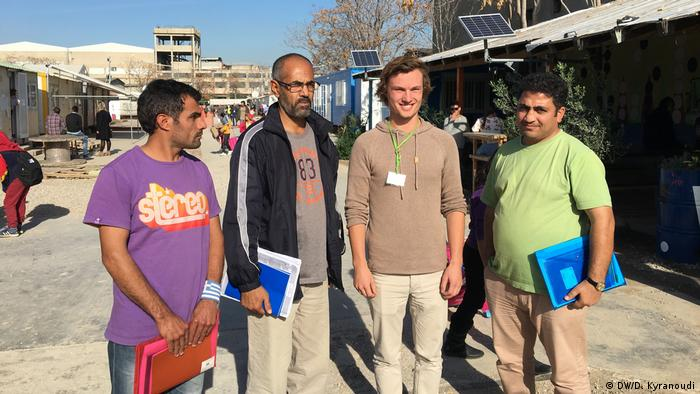 Many of the refugees and migrants hosted in Eleonas want to travel on to Central and Northern Europe — mostly Germany. They are offered intensive English and German courses, as well as Greek courses for those who are considering staying in Greece or those who just want to feel more integrated into Greek society.