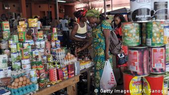 Angola Konservenhandel Markt in Cabinda