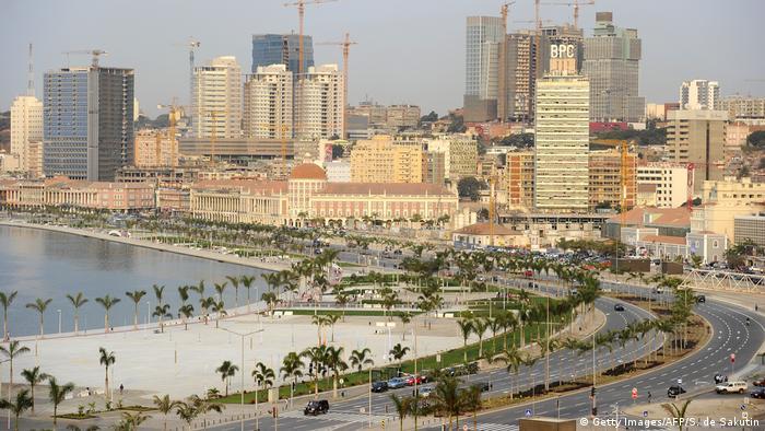 Angola Stadtbild von Luanda Finanzviertel