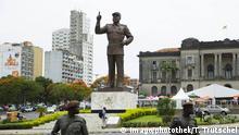 Stadtansicht von Maputo mit dem Statue Samora Machel dem ersten Praesidenten der Republik Mosambik