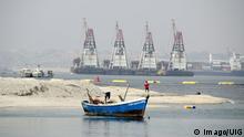 Angola Hafen von Luanda