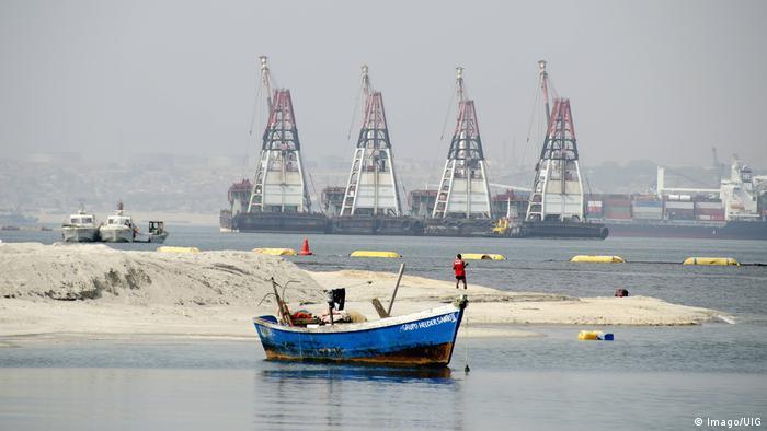 Luanda port in Angola