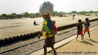 Angola Eisenbahnlinie bei Benguela