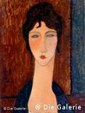 Joven de cabello oscuro (Elvira) 1918.