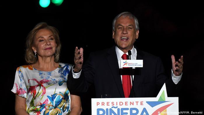 Chile Sebastian Pinera gewinnt Präsidentschaftswahlen (Getty Images/AFP/M. Bernetti)