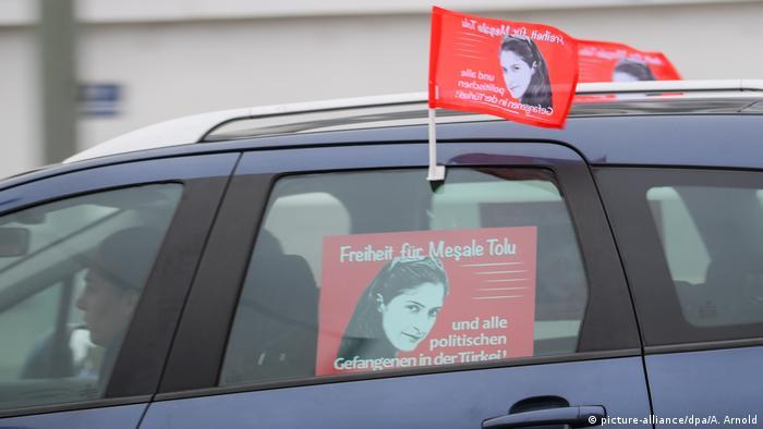 Акция в поддержку Мешале Толу во Франфурте-на-Майне