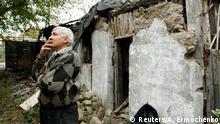 Ukraine Zetrstörung in Donetsk