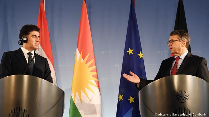 Ministerpräsident Kurdistan-Irak Nechirvan Barsani in Berlin (picture-alliance/dpa/M. Gambarini)