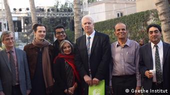 Concular Rainer Schmiedchen with Goethe Institut staff