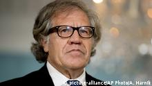 Organization of American States Secretary-General Luis Almagro appears with Secretary of State Rex Tillerson at the State Department, Friday, Oct. 13, 2017, in Washington. (AP Photo/Andrew Harnik) |
